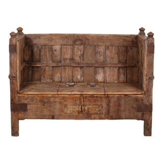 Grand Wooden Box Sofa Bench For Sale