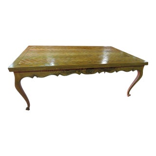 Country French Dining Room Table Attr. Don Rousseau For Sale