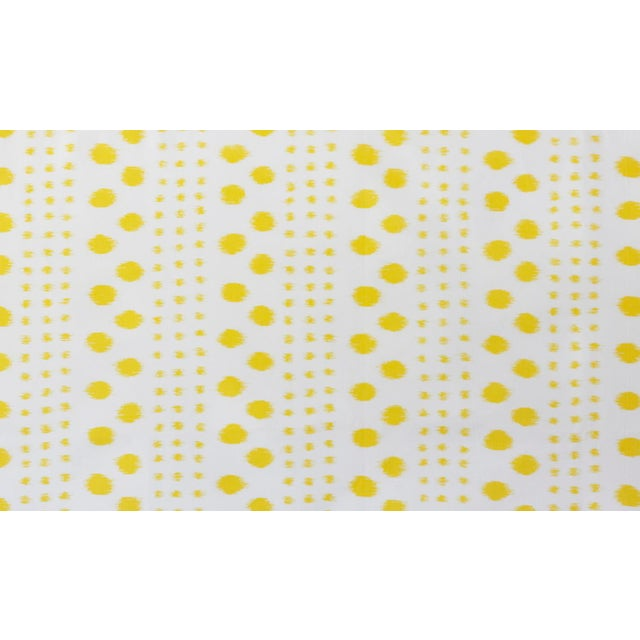 Transitional Virginia Kraft Polkat Fabric, 3 Yards in Marigold For Sale - Image 3 of 3