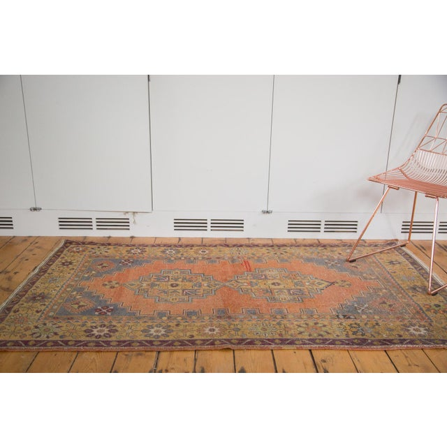 "Vintage Distressed Oushak Rug - 3'9"" x 6'6"" - Image 3 of 11"