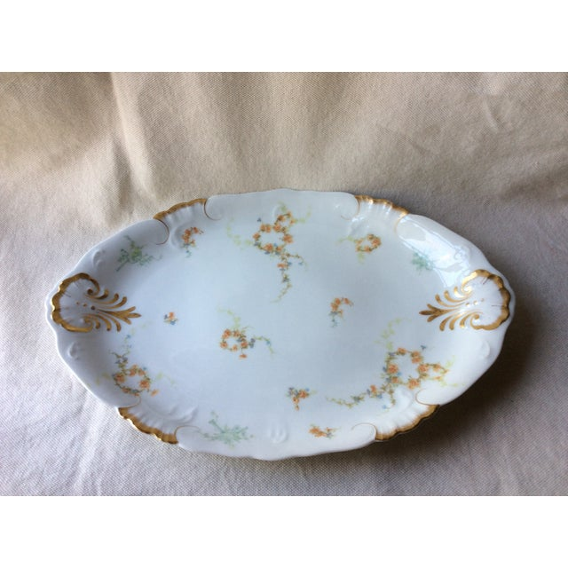 French Heirloom Porcelain Gravy Boat and Platters Serving Pieces - 4 Pc. Set For Sale - Image 10 of 13