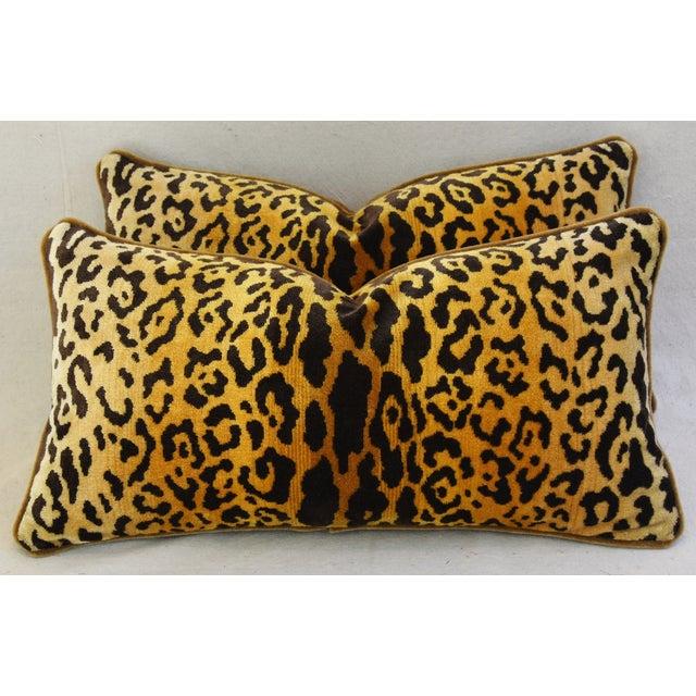 Scalamandre Leopardo Leopard & Mohair Pillows - a Pair - Image 8 of 11