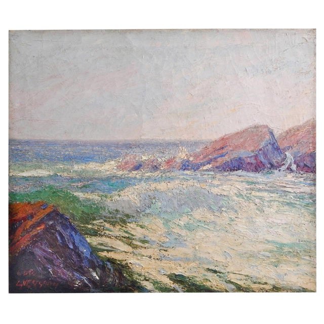 Large Seascape Oil Painting - Image 1 of 5