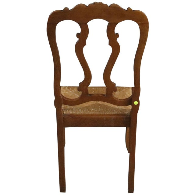 Brown Dining Chairs Louis XV Rococo Vintage French 1950 - Set of 6 For Sale - Image 8 of 11