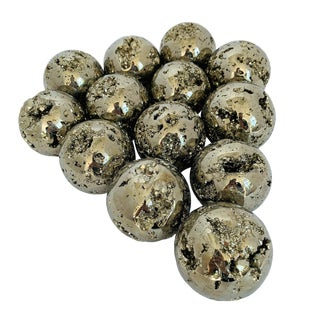 "Medium 2.5"" Diameter Polished Pyrite Spheres For Sale"