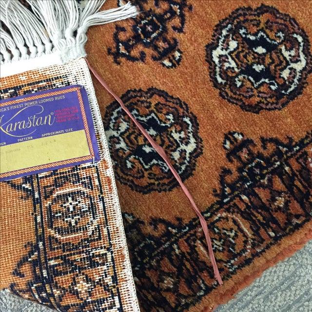 """Orange Karastan Wool Rug - 2'2"""" x 4'8"""" - Image 6 of 6"""