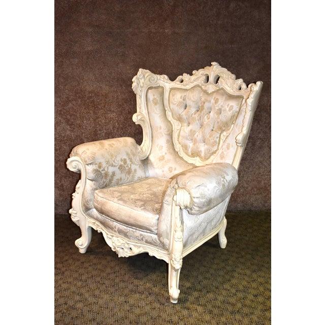 Renaissance 1980s Vintage Ornate Renaissance Style Sitting Chair For Sale - Image 3 of 13