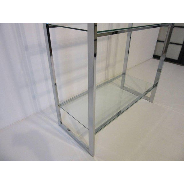 1970's Chrome and Glass Etagere For Sale - Image 4 of 6