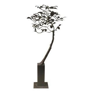 1960s Vintage Metal Tree Sculpture For Sale