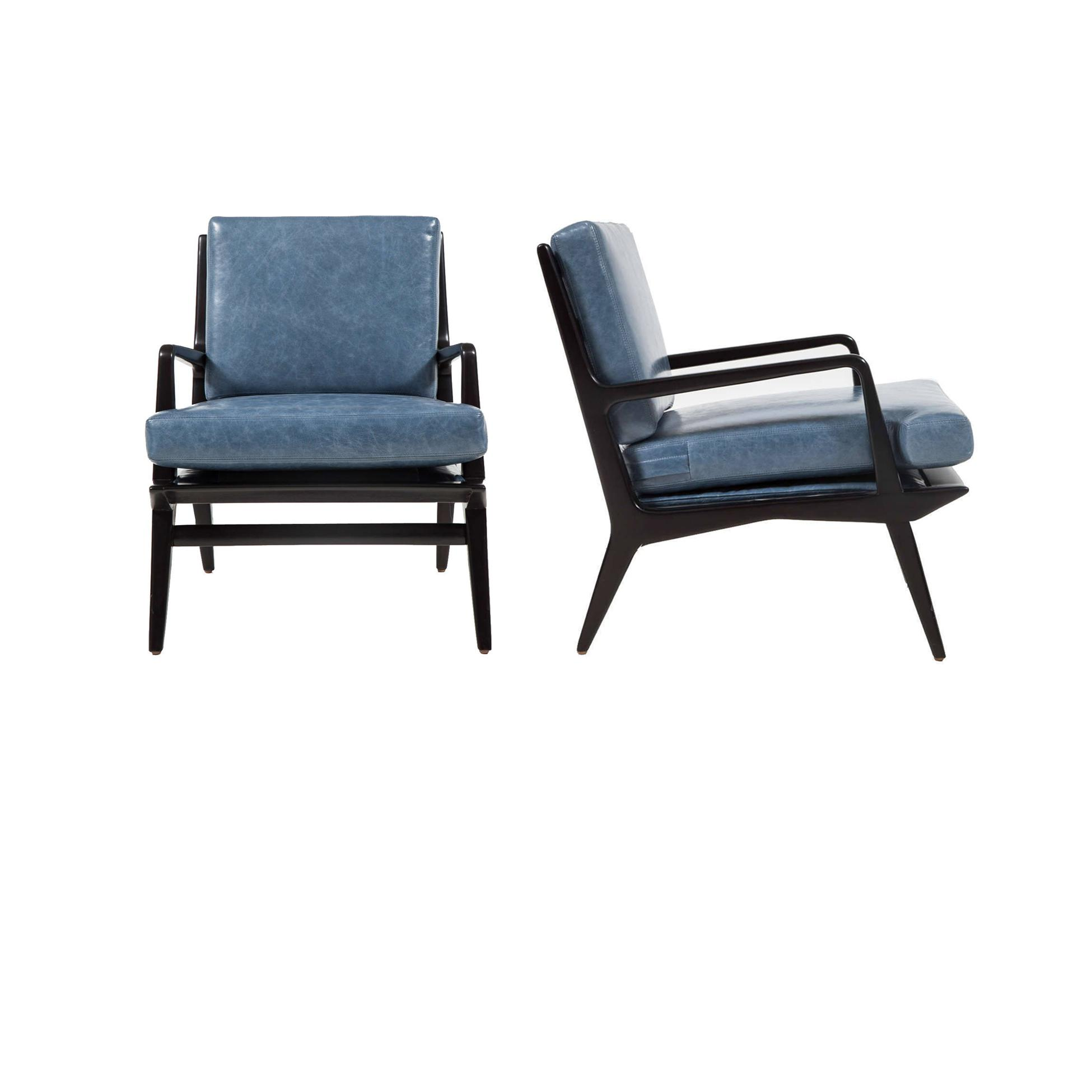 Pair Of Landry Open Frame Club Chairs For Sale In New York   Image 6 Of