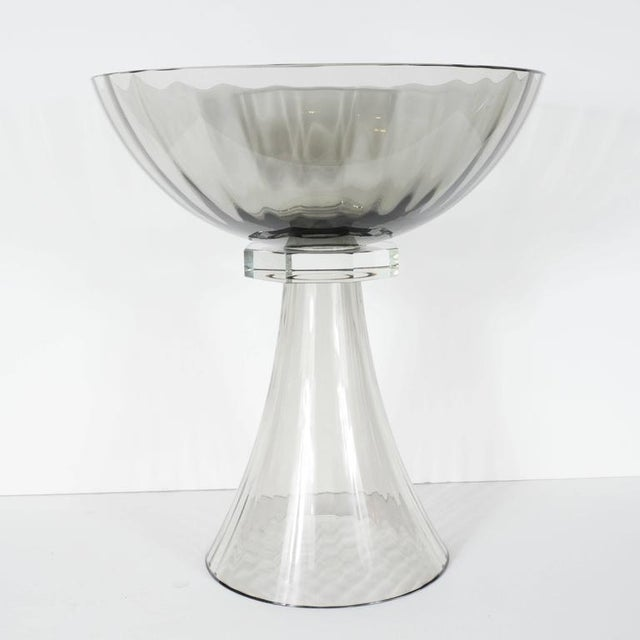 Sophisticated Murano Glass Modernist Bowl Or Vase In Handblown