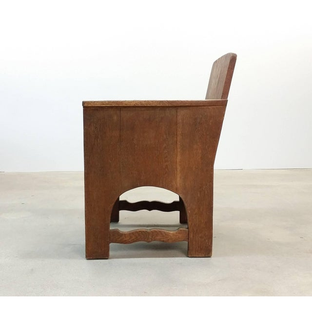 Wood Early 20th Century Vintage Early European Arts and Crafts Chair For Sale - Image 7 of 12