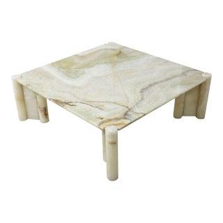 Rare Gae Aulenti Onyx Jumbo Low Table, Italy, 1970s