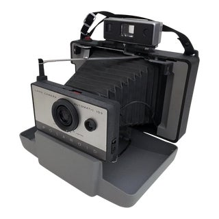 Vintage Polaroid Camera and Accessories For Sale