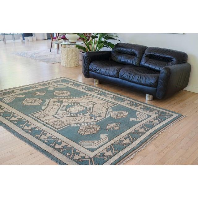 Islamic Vintage Erdemir Turkish Wool Rug - 5′9″ × 8′ For Sale - Image 3 of 9