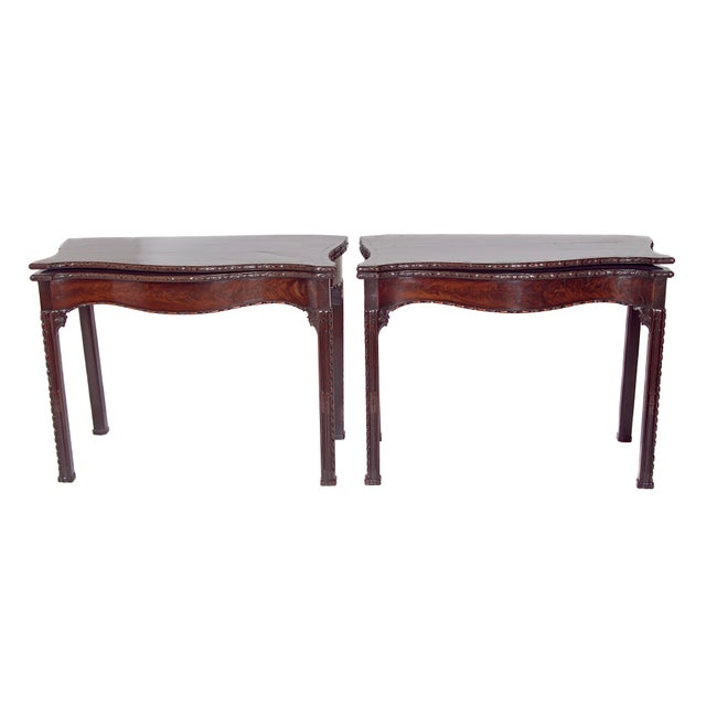 Pair of 18th Century George III Mahogany Card Tables For Sale - Image 13 of 13