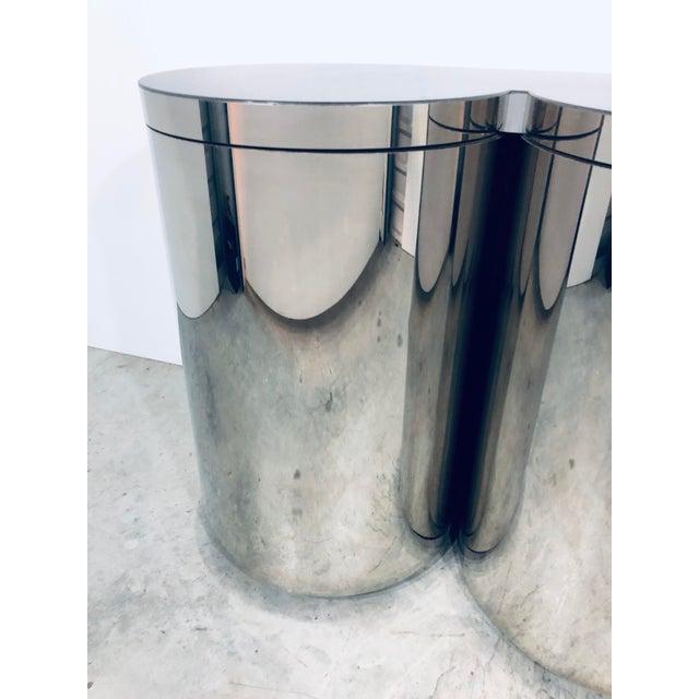 Gold Paul Evans Mirror Polished Steel Cylinder Sideboard For Sale - Image 8 of 13