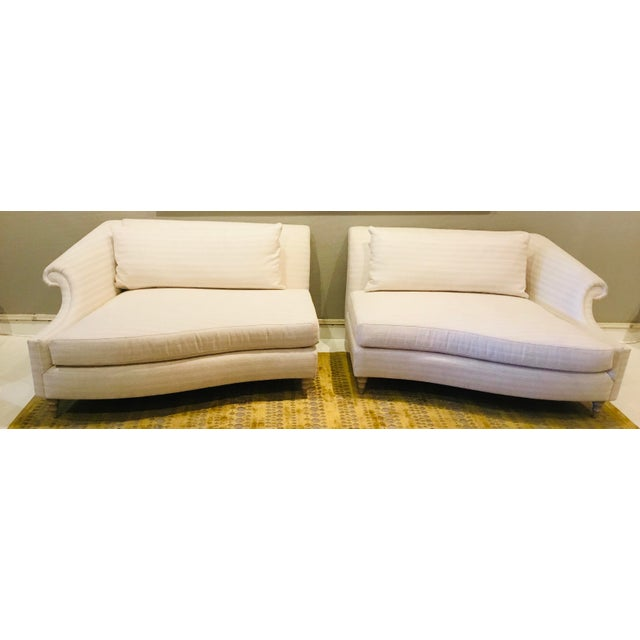 2020s Caracole Modern Two Piece Roll Model Sofa For Sale - Image 5 of 6
