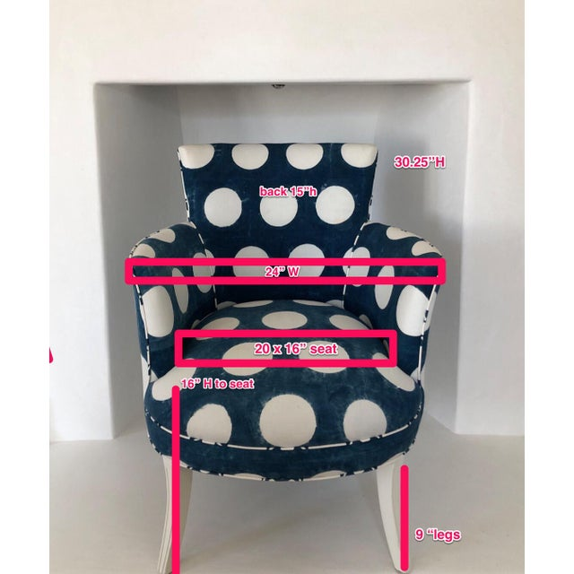 This whimsical closed arm occasional chair would be a cheerful accent to any room; especially a child or teen's bedroom....