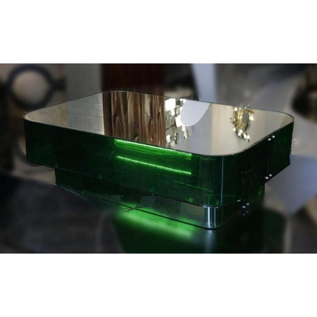 Ron Ferri, Electrified Plexiglass and Mirror Low Table, Usa, 1970s For Sale - Image 4 of 10