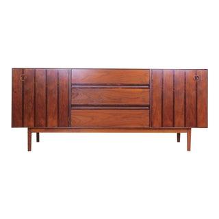 Mid Century Modern Stanley Walnut & Rosewood Buffet / Credenza