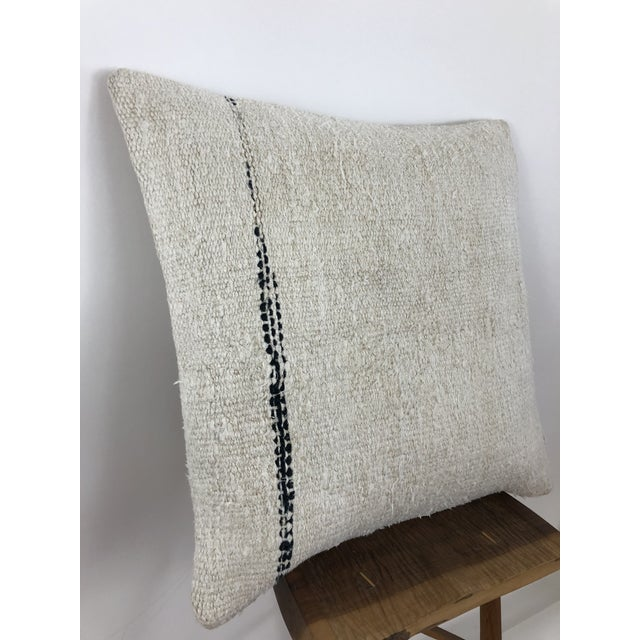 Boho Chic 1960s Boho Chic Hemp Pillow For Sale - Image 3 of 8