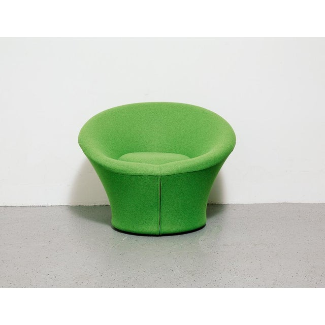 Vintage Mushroom chair by Pierre Paulin for Artifort, the Netherlands. Reupholstered in Green Maharam wool. Signed.