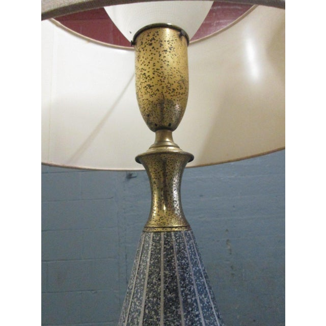 Unique Ceramic and Brass Floor Lamp by Gerald Thurston for Lightolier - Image 5 of 6