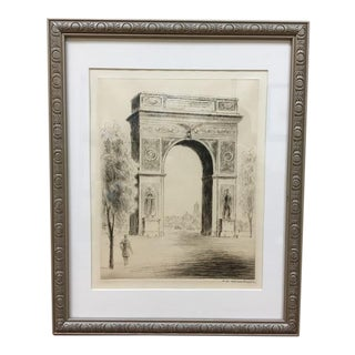 F W Wernerhoppe Hand Signed Etching For Sale