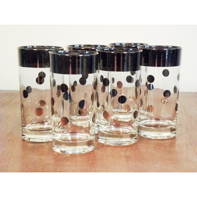 Dorothy Thorpe Silver Dot Tall Glasses - Set of 6 - Image 5 of 7
