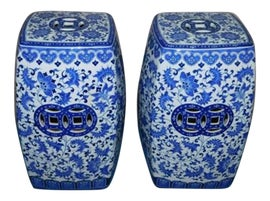 Image of Chinese Outdoor Ottomans and Stools
