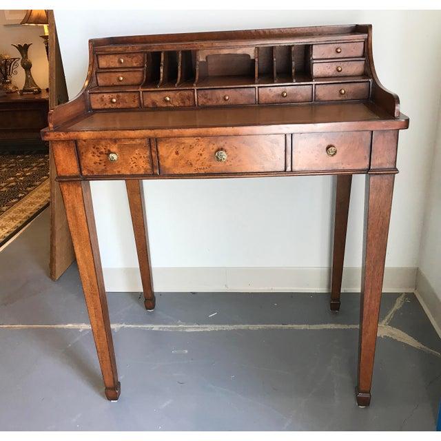 Brown Vintage Ethan Allen Writing Desk For Sale - Image 8 of 8