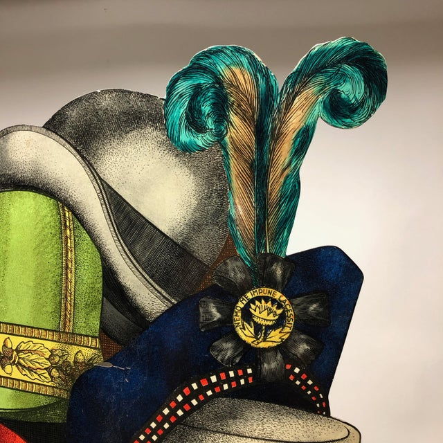 """Mid-Century Modern """"Cappelli"""" Tole Umbrella Stand by Piero Fornasetti For Sale - Image 3 of 9"""