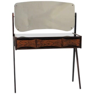 1960s Mid Century Modern Arne Vodder Rosewood Vanity Table For Sale