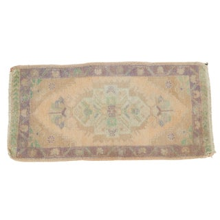 Vintage Distressed Oushak Rug - 1′9″ × 3′6″
