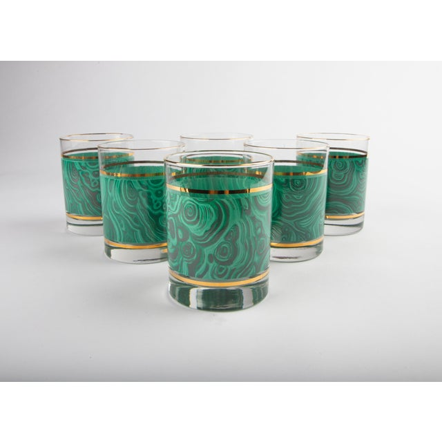 Set of 6 Nieman Marcus Malachite Glasses For Sale In Raleigh - Image 6 of 6
