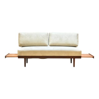 1960s Ingmar Relling Sofa/Daybed With Pullout Teak Side Tables For Sale