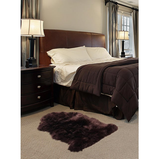 "100% Natural Sheepskin Rug, Chocolate - 2'0"" x 3'0"" - Image 2 of 2"