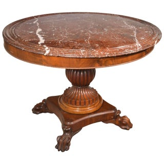 King Louis Philippe Period Marble-Top Center Table For Sale