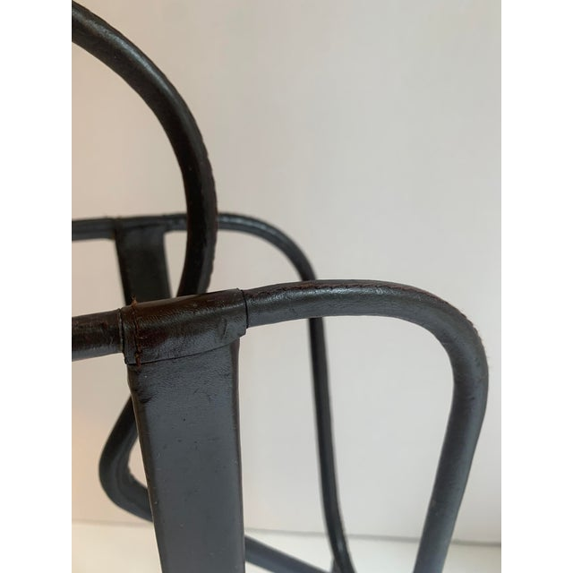 Jacques Adnet Leather Magazine Rack For Sale In Los Angeles - Image 6 of 11