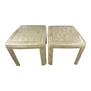 Mid-Century Tessellated Side Tables by Maitland Smith - a Pair For Sale