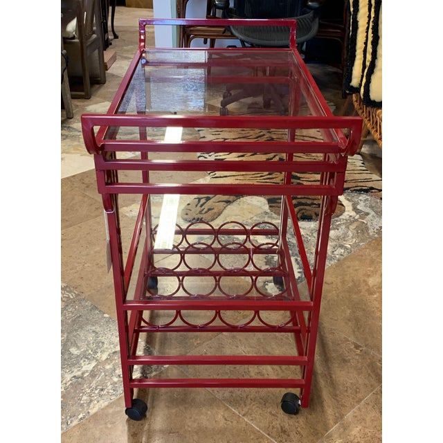 Late 20th Century Art Deco Bar Cart For Sale In Tampa - Image 6 of 9
