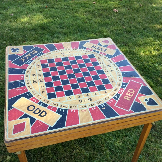 Mid-Century Modern Vintage Five in One Game Table For Sale - Image 3 of 10