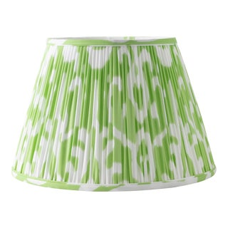 """Soft Ikat in Pear 6"""" Lamp Shade, Light Green For Sale"""
