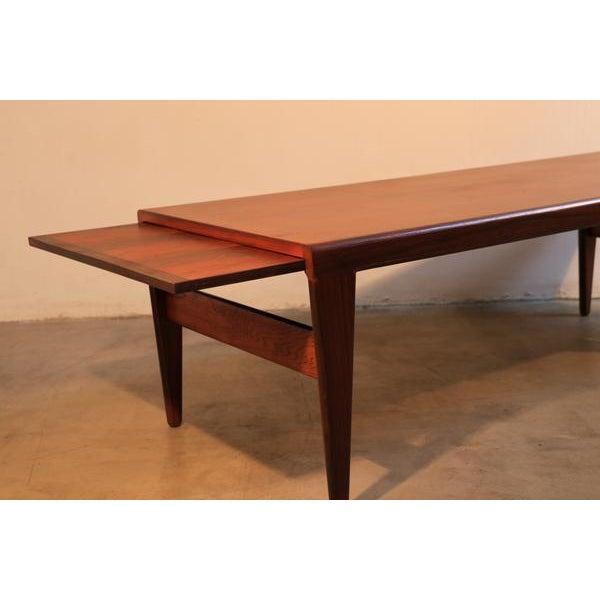 Johannes Andersen Johannes Andersen for Uldum Møbelfabrik Danish Coffee Table For Sale - Image 4 of 8