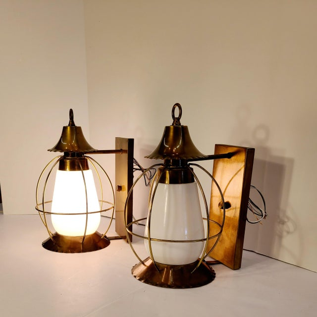 Vintage Nautical Earl Lites Wall Sconces - a Pair For Sale - Image 10 of 13