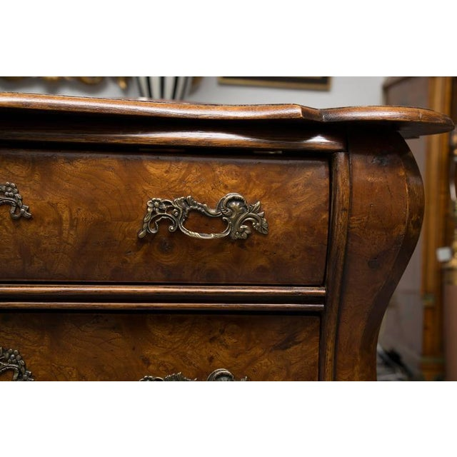 Mid 19th Century 19th Century Dutch Rococo Walnut Bombe Chest For Sale - Image 5 of 7