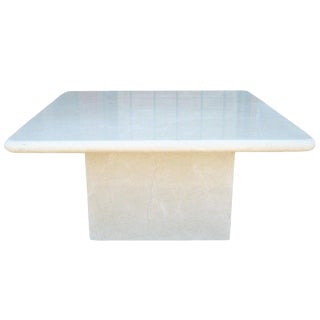 Crema Marfil Marble Occasional Table Made in Spain For Sale