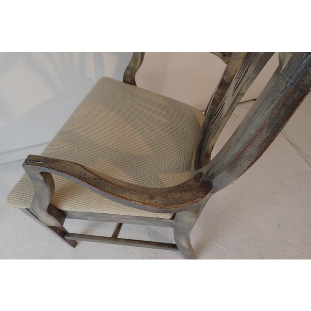 Tan Duncan Phyfe Style Side Chair Distressed Decor Finish 38.5H x 23D x 24W For Sale - Image 8 of 9