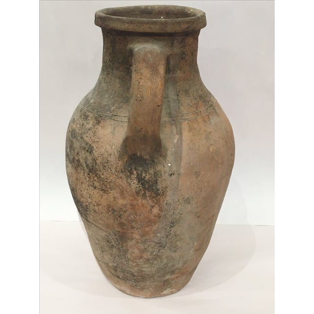 Mediterranean Turkish Ceramic Olive Oil Pot - Image 4 of 9